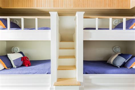 37291 built in bunk beds bunk beds with built in staircase cottage boy s room