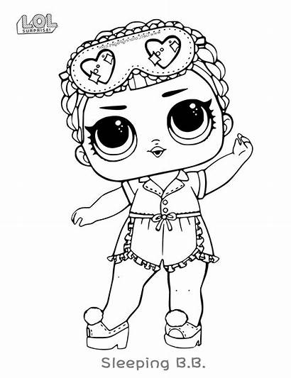 Lol Coloring Pages Dolls Surprise Doll Easy