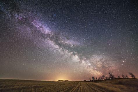 The Milky Way Spring Prairies Amazing Sky