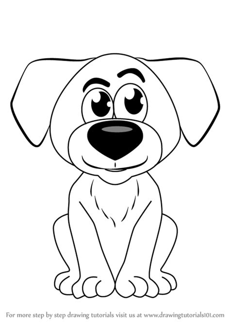 learn   draw cartoon doggie cartoons  kids step