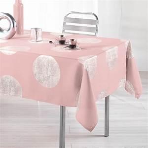 Nappe Rose Pale : nappe rectangulaire l240 cm platine rose drag e nappe ~ Teatrodelosmanantiales.com Idées de Décoration
