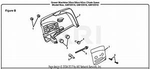 Homelite Gm10518 18 U0026quot  42cc Chain Saw Parts Diagram For Figure B