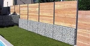 Mur De Soutenement En Gabion : murets et murs de s paration en gabion tendance gabion ~ Melissatoandfro.com Idées de Décoration
