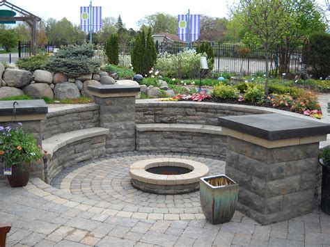 outside pit ideas brick patio with fire pit design ideas fire pit a water feature and an outdoor kitchen