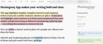 Hemingway Word Editor App Examples Processing Application