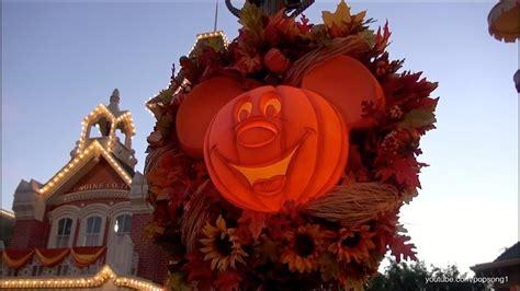 magic kingdom  halloween decorations walt disney world hd youtube