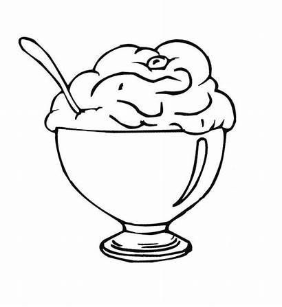 Ice Cream Coloring Pages Cone Drawing Icecream