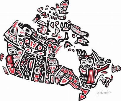 Land Native Canadian Map Indigenous Canada Aboriginal