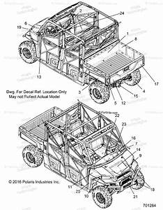 Polaris Side By Side 2017 Oem Parts Diagram For Body