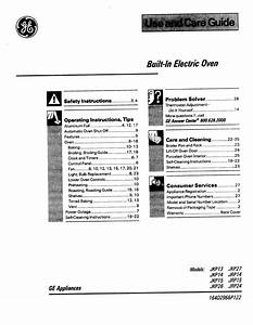Ge Oven 164d2966p122 User Guide