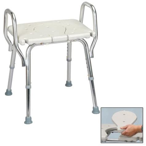 eagle health 62321 shower chair with arms cut out seat