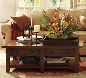 Pottery barn coffee table which i love but i think our for Cozy pottery barn coffee table