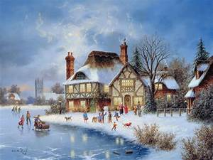 Best Christmas painting Wallpapers – Christmas Wishes ...