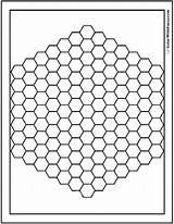 Coloring Pattern Hex Bee Hive سكرابز خلفيات Pdf للتصميم Square Adults Flowers خطوط Logic تحميل بدون Geogebra منوع Detailed Printables sketch template