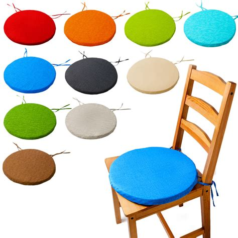 bistro circular chair cushion seat pads kitchen