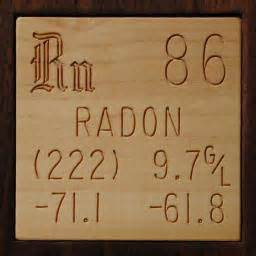 sle of the element radon in the periodic table