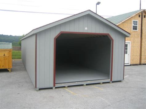 amish built 14x24 a frame garage storage shed duratemp wood t111 pre built ebay