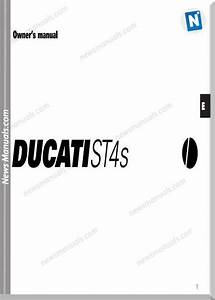 Ducati St4s 03 Owners Manual