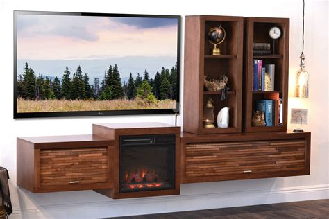 fireplace tv stands floating wall mount consoles woodwaves
