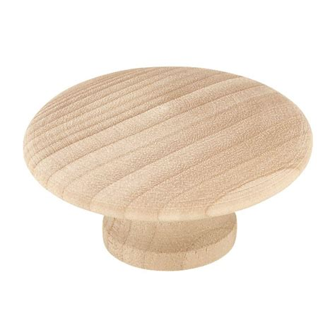 unfinished wood knobs liberty 1 13 16 in 46mm unfinished wood knob