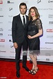 Actor Benjamin Ayres (L) and Erin Ayres attend the HELLO ...