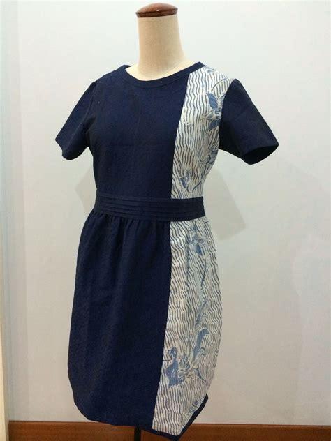 dress   combination  batik tulis  navy batik