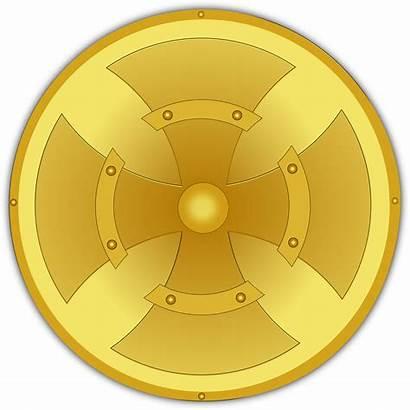 Shield Golden Gold Clip Clipart Vector Shields