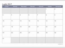 Calendario luglio 2017 da stampare iCalendarioit