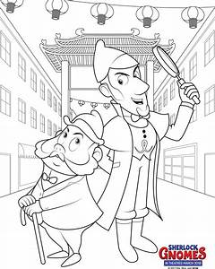 sherlock gnomes coloring page With wiring books