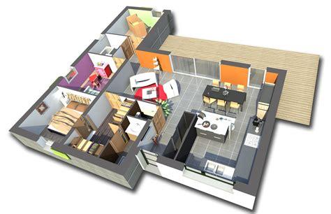 les chambres de la maison plan maison 84m2 3 chambres gratuit plan n 21 univia