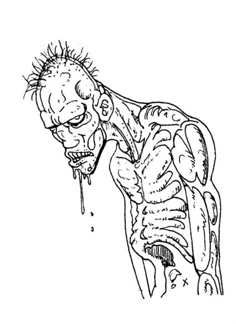 printable zombie coloring pages