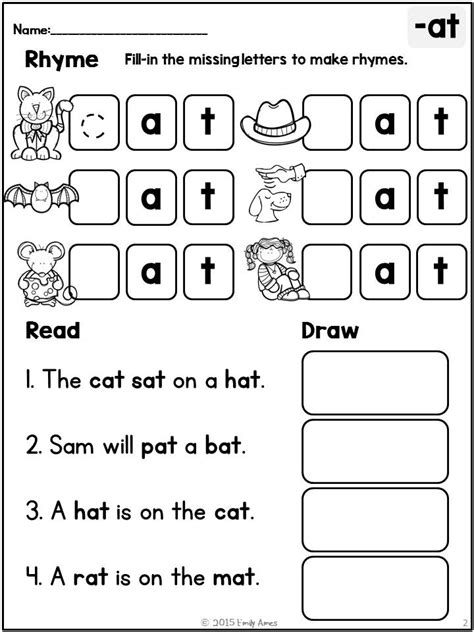 rhyming words reading worksheets rhyme read draw print go differentiated