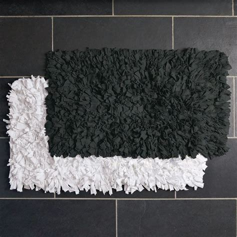 Modern White Bathroom Rugs by Recycled Jersey Bath Mat Modern Bath Mats By West Elm