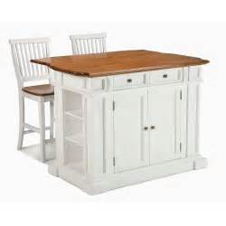 stationary kitchen islands jet com home styles large kitchen island set with 2 stationary stools antique white oak