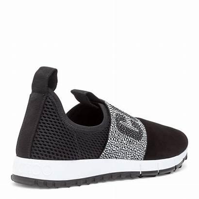 Jimmy Choo Sneakers Oakland Crystal Suede Shoes