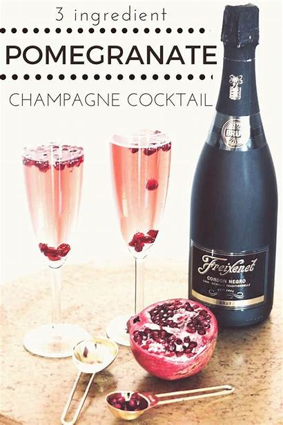 Cocktail Champagne Nye Drink Easy Pomegranate Cocktails