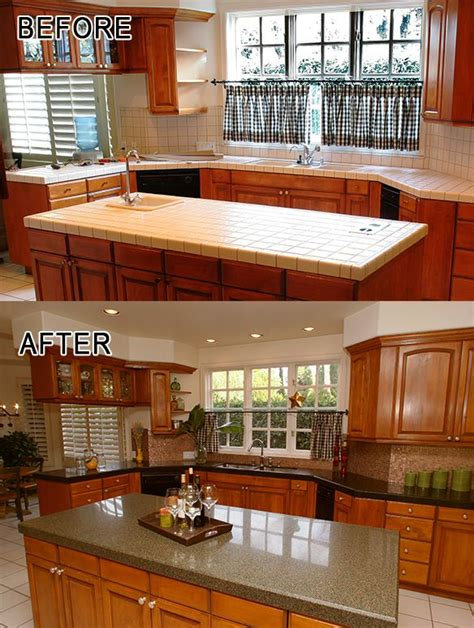 kitchen before after granite transformations of
