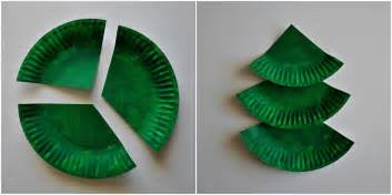 paper plate laced christmas tree craft nifymag com