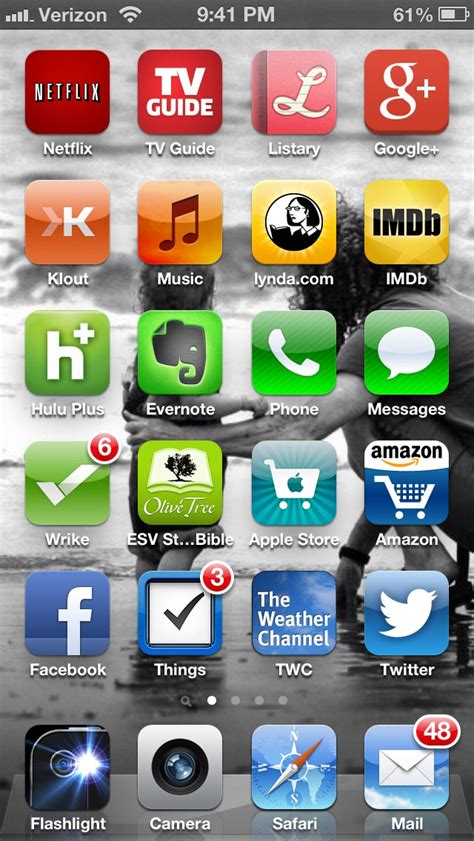 my method for organizing my iphone icons