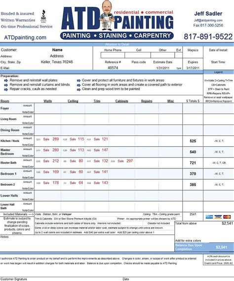 atd painting pricing specials coupons