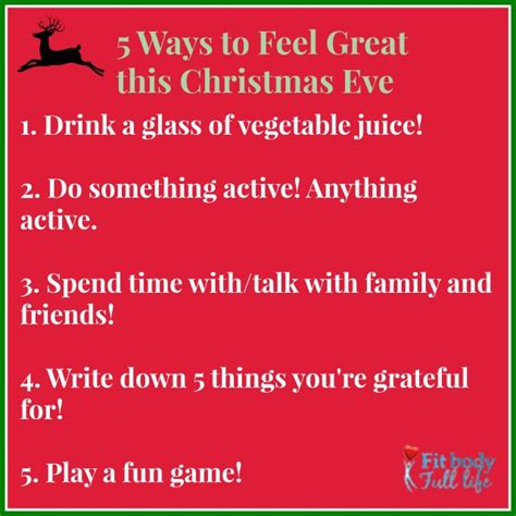 5 Ways To Feel Great This Christmas Eve  Christina Chitwood