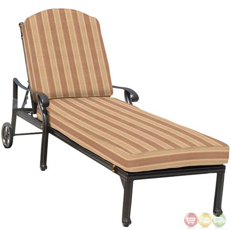 brentwood 3 cast aluminum outdoor chaise lounge set