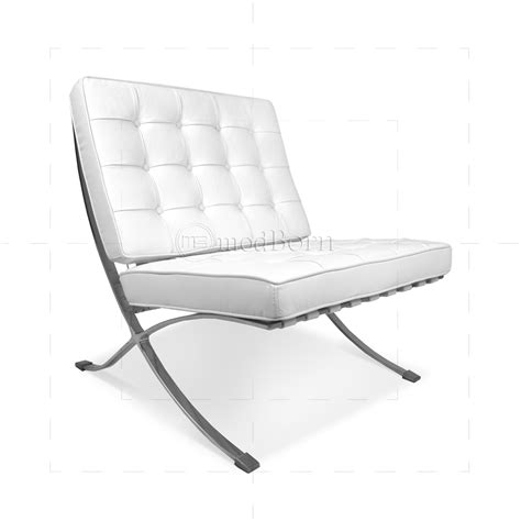 ludwig mies der rohe barcelona style chair white leather