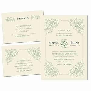 ornate details separate and send invitation ann39s bridal With wedding invitations separate and send