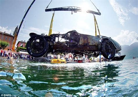 Bugatti Into Lake by Surface Interval Bugatti Found At Bottom Of Lake After 70