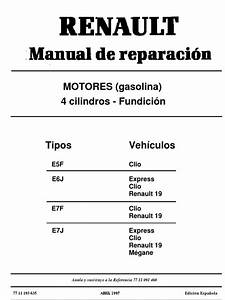 Manual De Motor Renault 1 4 Energy  Clio R19 Etc