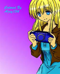 Anime girl playing video games by ajay154 on DeviantArt