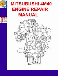 Mitsubushi 4m40 Engine Repair Manual