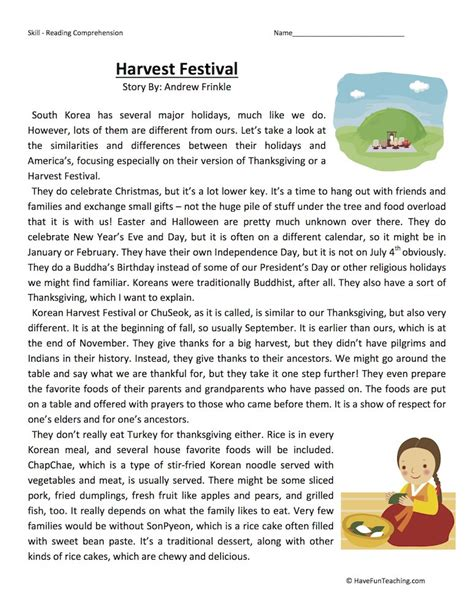 Fifth Grade Reading Comprehension Worksheets  Page 2 Of 5  Have Fun Teaching
