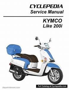 Kymco Like 200i Scooter Service Manual Printed For Sale On